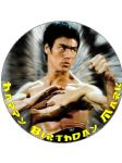 7.5 Bruce Lee Personalised Edible Icing or Wafer Paper Birthday Cake Top Topper